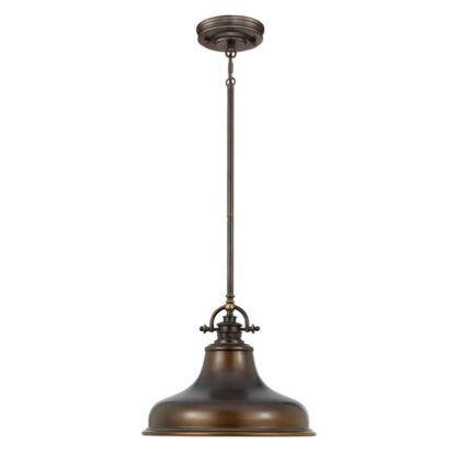 ciemnobrązowa, metalowa lampa wisząca