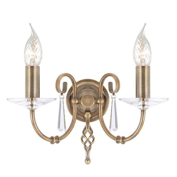 brązowy, metalowy kinkiet w klasycznym stylu
