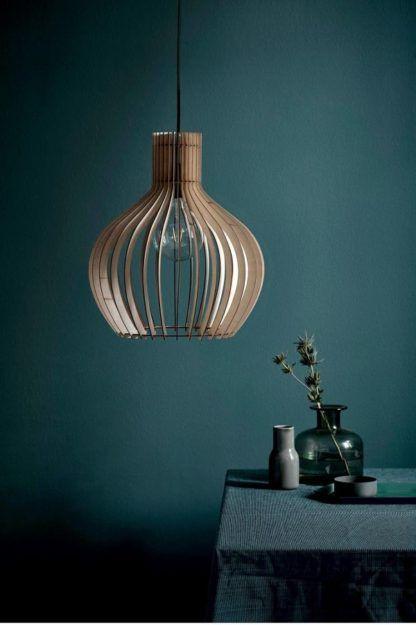 skandynawska lampa wisząca, ażurowa