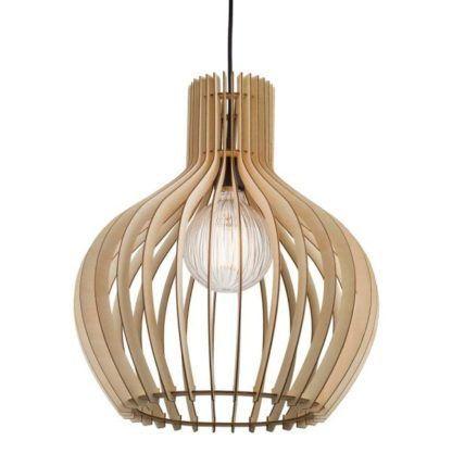 skandynawska lampa wisząca ze sklejki