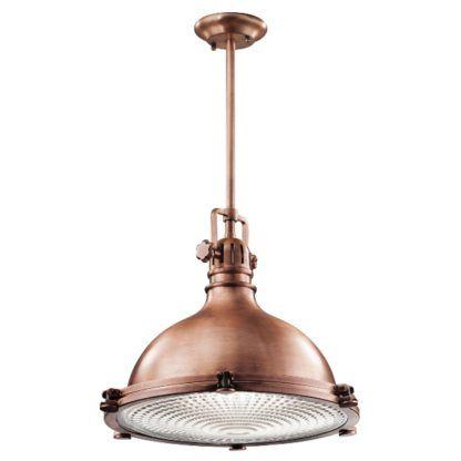 miedziana lampa industrialna wisząca
