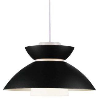 Metalowa lampa wisząca Mirror - Nordlux - DFTP - czarny klosz