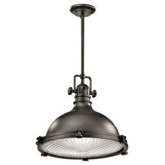 Metalowa lampa wisząca Jackson - bardzo duża, ciemny brąz