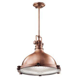 Industrialna lampa wisząca Jackson - bardzo duża, miedź
