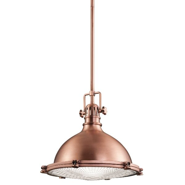 miedziana lampa wisząca industrial