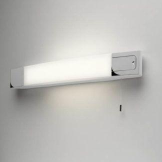 Nowoczesny kinkiet Ixtra - Astro Lighting - srebrny, mleczny klosz, wbudowany kontakt