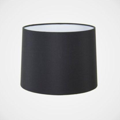 czarny, klasyczny abażur