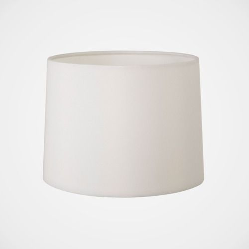 biały abażur materiałowy