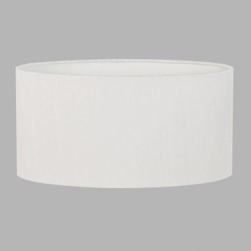 biały abażur z materiału
