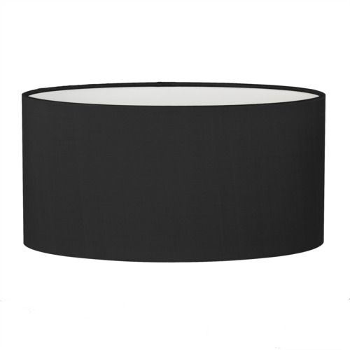 czarny abażur z materiału