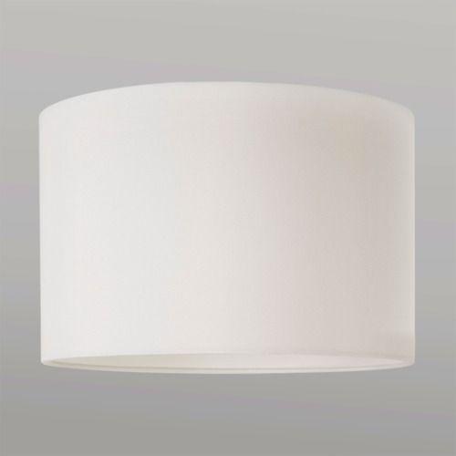 biały materiałowy abażur