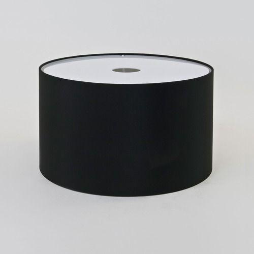 czarny, materiałowy abażur