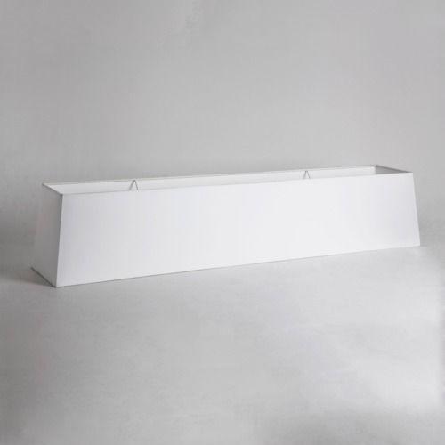 biały abażur do lampy wiszącej