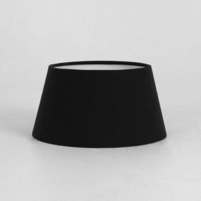 czarny, owalny abażur