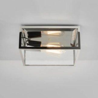 Industrialna lampa sufitowa Bronte - Astro Lighting - srebrna, szklana