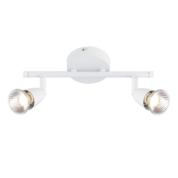 biała lampa sufitowa, dwa reflektory
