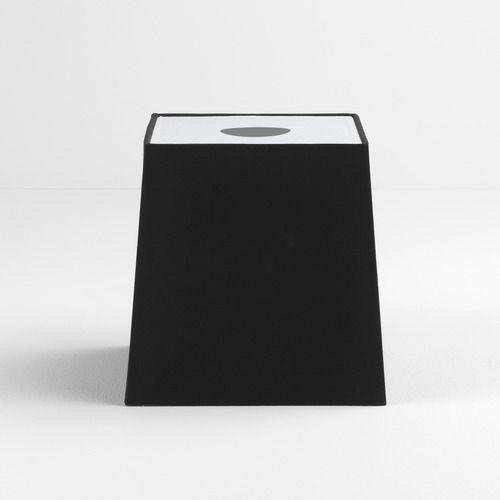 czarny, kwadratowy abażur do lamp stołowych