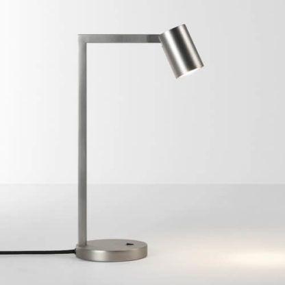nowoczesna lampa stołowa , srebrna