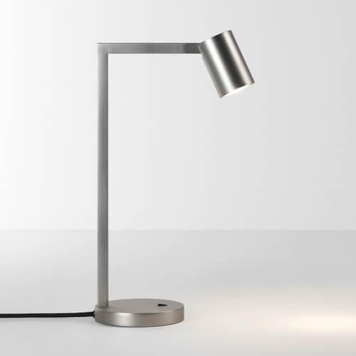 lampa stołowa z regulowanym kloszem