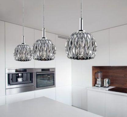 nowoczesna lampa wisząca glamour, połysk