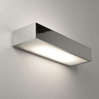 Nowoczesny kinkiet Tallin - Astro Lighting - srebrny, mleczny klosz