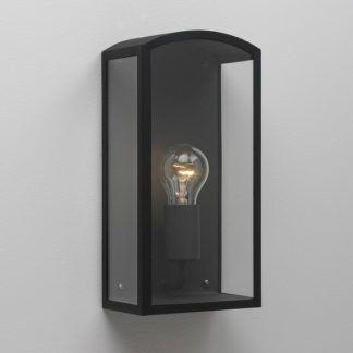 Klasyczny kinkiet Emilia - Astro Lighting - szklany, czarny metal