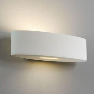 Owalny kinkiet Ovaro - Astro Lighting - ceramiczny, biały