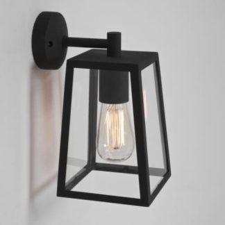 Szklany kinkiet Calvi - Astro Lighting - czarna, metalowa rama