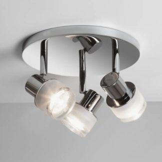 Okrągła lampa sufitowa Tokai - Astro Lightimg - 3 klosze, srebrna
