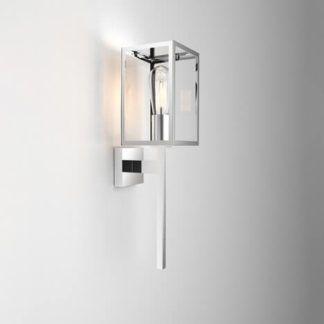 Szklany kinkiet Coach - Astro Lighting - dekoracyjna, srebrna rama