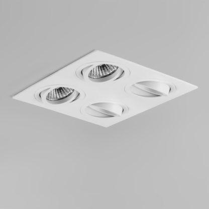 wpuszczana lampa sufitowa biała
