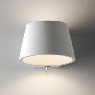 Gipsowy kinkiet Koza - Astro Lighting - biały