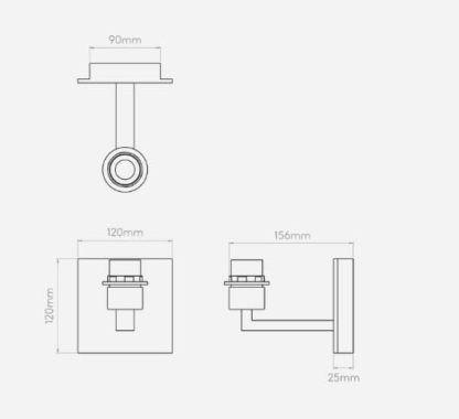 elegancki kinkiet metalowy z możliwością montażu abażuru