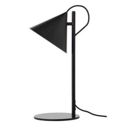 czarna, nowoczesna lampa stołowa, lampa biurkowa z metalu, styl scandi, nowoczesny