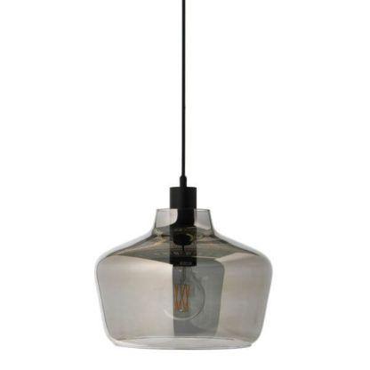 nowoczesna, szara lampa wisząca, styl scandi