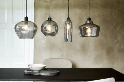 lampy wiszące z dymionego szkła różne kształty