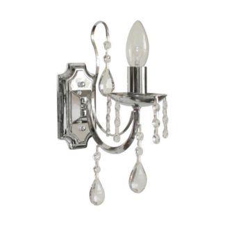 Elegancki kinkiet Albi - Zuma Line - srebrny z kryształkami