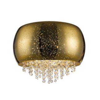 Dekoracyjna lampa sufitowa Vista - Zuma Line - złota, kryształki