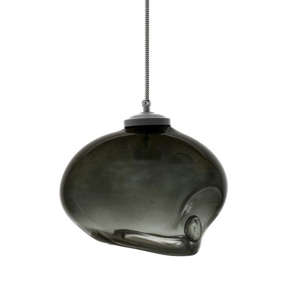 lampa wisząca z barwionego szkła