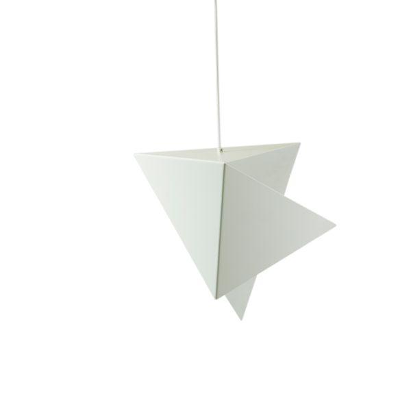 designerska, biała lampa wisząca origami