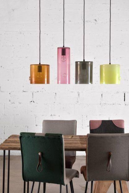 kolorowe lampy wiszące ze szkła, nowoczesne