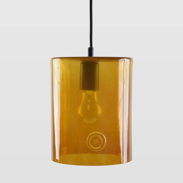 lampa wisząca z barwionego szkła, neonowa