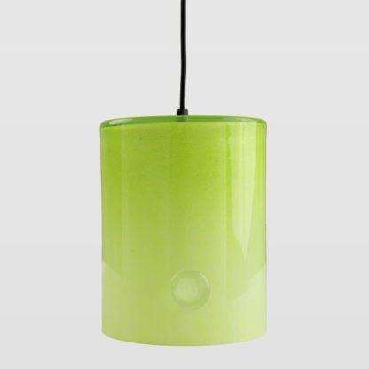 szklana lampa wisząca, żółta
