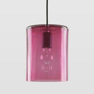 Lampa wisząca Neo II - Gie El Home - szkło barwione, różowa