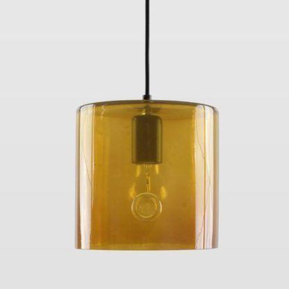 miodowa, szklana lampa wisząca