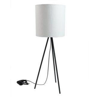Nowoczesna lampa stołowa Trinity II - Gie El Home - biały abażur, trójnóg