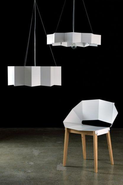 designerska lampa wisząca, biała gwiazdka