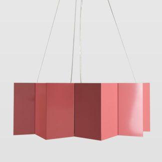 Różowa lampa Big Star - Gie El Home - geometryczny klosz