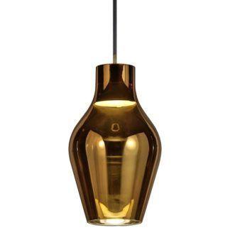 Szklana lampa wisząca Blow - Nordlux - DFTP - złota