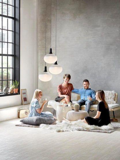 lampa wisząca szklana styl skandynawski, kula